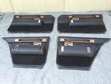 80-81-82-83-84-85 CADILLAC SEVILLE DOOR PANEL&ARMREST SET&SWITCHES&BEZELS~BLACK