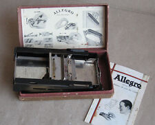 ANTIQUE SWISS METAL RAZOR BLADE SHARPENER ALLEGRO / MODEL STANDARD / FUNCTIONAL