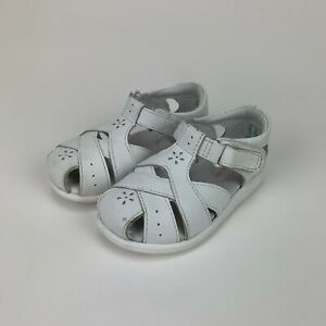 Stride Rite Girls SRT Tulip White Sandals Shoes Toddler Size 7