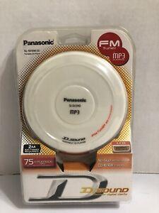 PANASONIC SL-SV590 Portable CD Player FM Tuner Radio,Headphones/White Brand New