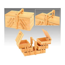 Nähkasten Nähkästchen Nähzubehör Nähbox klappbar Holz Nähkiste