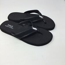 Polo Ralph Lauren Big Boy's Leo Flip Flop Sandals Shoes Size 10.5