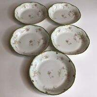 "Vintage Warwick China 7"" Soup Plates Bowls Set Of 5"