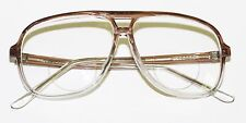 Classic 80's Tech Bifocal Reading Glasses Men's Large Coffee Clear Ombre +2.25