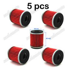 5x Oil Filter For Yamaha YZ250 XT250 YZ250F WR250F WR250X WR250R YFZ450X YFZ450R