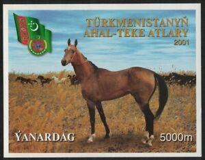 Turkmenistan Akhal-Teke Horses MS 2001 MNH SG#MS108-2 MI#Block 12 CV£10.50