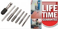 NEW Tap Set Metric Thread Taps M6-M12 re-threading forming tool set Tap wrench