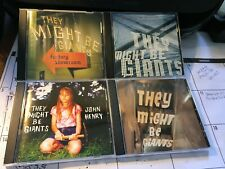 THEY MIGHT BE GIANTS 4 CD LOT: FACTORY, JOHN HENRY, SEVERE TIRE, MISCELLANEOUS T