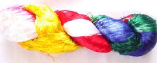 115g Woven Thread Knit Work Sari Fabric New Silk 1 PLY Skeins Yarn Lace Crochet
