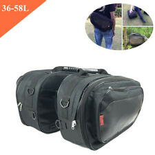 Motorcycle Saddle Bags (36-58L) Polyester 600D encryption oxford W/Rain Cover