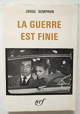 La guerre est finie. Gallimard 1966 Coll. blanche. jaquette incluse TBE