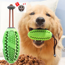 Dog Aggressive Chew Toothbrush Toy Rubber Leakage Food Dispenser Training Ball