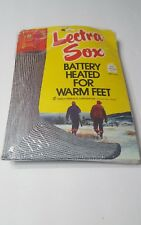 Vintage Lectra-Sox Sz Med.10-11 D-Cell Battery Heated USA Made Orange Gray Socks