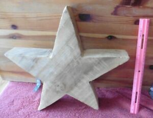 Large Wooden Star handmade Decoration craft Art statue