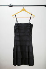 DKNY - Black Spaghetti strap dress / Linen like material  - Sz 2
