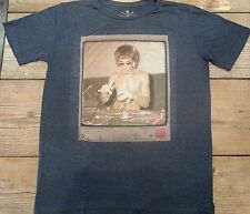 Bruce Lee DJ Dragon Heather Blue T shirt gungfu Small mma Avengers Rayon