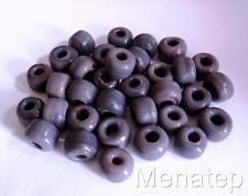 25 5 x 9mm Czech Glass Roller/Crow Beads: Dark Purple