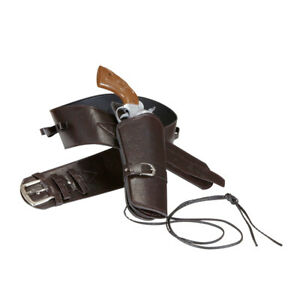 Pistolenholster braun Cowboy Holster Pistolengürtel Pistolenhalfter Colt Halfter