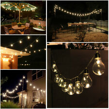 10 Edison Bulbs Warm White Stars LED String Light Garden Patio Gazebo Christmas