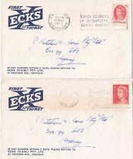Stamps Australia QE2 on pair ECKS NSW Pty Ltd Croydon NSW advertising covers