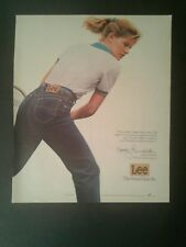 1983 Kathy Rinaldi Tennis Player Lee Jeans Fashion Memorabilia White Shirt Ad