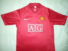 2007/2009 Nike Manchester United Home Shirt Top Jersey *XLB or XS Mens* MAN UTD