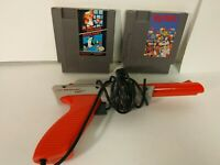 ORIGINAL OEM NINTENDO NES ZAPPER WITH SUPER MARIO BROS. DUCK HUNT & Dr Mario B