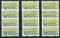 Bund ATM 1.1 postfrisch 12 Einzelwerte BRD Automatenmarken 320/250/240/230/210..