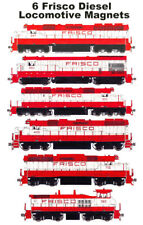 Frisco Locomotives 6 magnets Andy Fletcher
