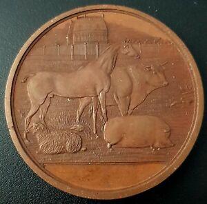 1898 CONCURSO ESPECIAL GANADERIA Mexico bronze medal 54g COYOACÁN Very Nice! UNC