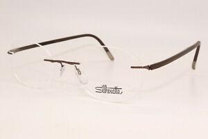 Silhouette Fusion 5477 40 6059 Brown 5479 Rimless Eyeglasses 49-19-140 W/Case