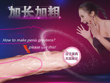 New TPR CyberSkin Realistic  extender,Phthalate Free Penis Condom Sleeve