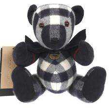 NEW THOMAS BEAR BURBERRY COLLECTIBLE 100% CHECK CASHMERE BLUE TOY LARGE