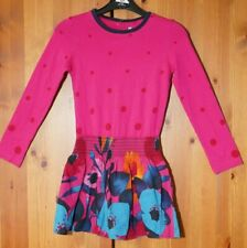 Catimini French Designer 7 Years Girls Party Dress Spotted Floral L/S 122cm