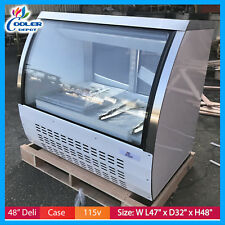 "Deli Case 48"" Glass Show Case Refrigerator Cooler Display Bakery display Cooler"