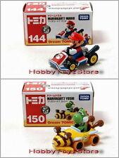 Dream Tomica Tomy Nintendo Mario Kart 7 Mario 144 Yoshi 150 Diecast Vehicles Set