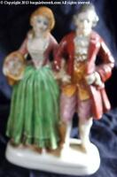 PORCELEAN 6 INCH VICTORIAN MAN & WOMAN FIGURINE MADE IN OCCUPIED JAPAN BBA059