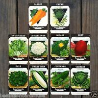 Vintage Original 10 VEGETABLE SEED PACKS CARD SEED CO (SET E) 1920's nos unused