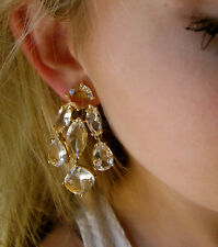 KATE SPADE NY CRYSTAL RIDICULOUSLY GORGEOUS CHAMPAGNE CHANDELIER DROP EARRINGS