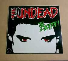 The Undead Til Death ! World Records Red Eyes Amp Guitar Case Very Rare Sticker