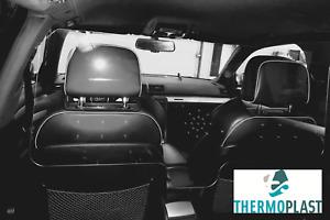 Hustenschutz Spuckschutz Trennscheibe für Taxi / Fahrdienst *** 125 x 55 cm ****