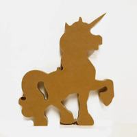 18mm mdf Freestanding Unicorn 200mm High - MDF Wooden Craft Blank