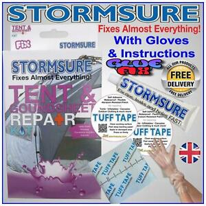 Tent Repair Kit Awning & Groundsheet inflatables waterproof patch glue Condition