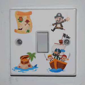 Pirate Light Switch Sticker - Bedroom / Garage / Shed