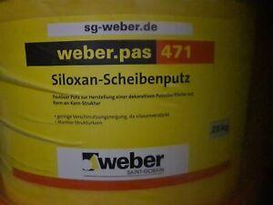 Weber 471 Scheibenputz Kratzputz AquaBalance 25 kg Siloxan Dispersionsputz 3 mm