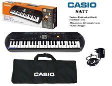 Casio Sa-77 Mini Tastiera Polifonica ad 8 Voci 44 Tasti Nera