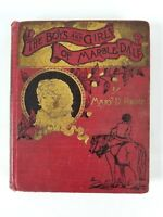 Book The Boys and Girls of Marble Dale by Mary D Brine O M Dunham 1888 Antique