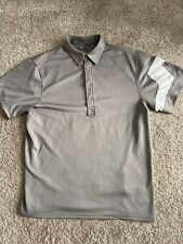 J Lindeberg Mens Gray 100% polyester short sleeve polo size M