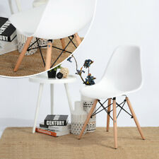 Set of Designer 6 Inspired Vintage Eiffel Retro DSW Dining Office Lounge Chairs