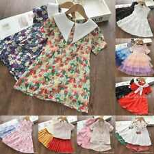 2020 New Toddler Kids Baby Girls Clothes Tops+Skirt Dress 2pcs Outfits Set